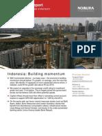 Indonesia Building Momentum