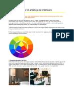 Alegerea Culorilor in Amenajarile Interioare