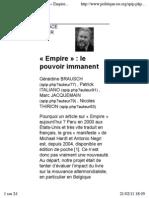 «Empire»_ le pouvoir immanent
