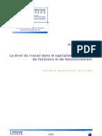 Le droit du travail dans le capitalisme question de fonctions et de fonctionnement - 2005