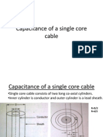 Capacitance of a Single Core Cable