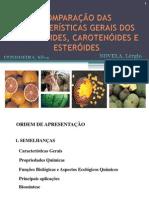 COMPARAÇÃO E DAS CARACETRÍSTICAS GERAIS DOS TERPENÓIDES - CONDOEIRA,Silva
