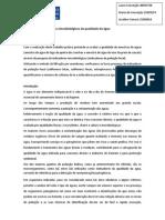 relatorio indicadores microbiológicos da qualidade da água