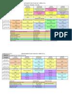 HORARIOS GRUPOS 2012-13