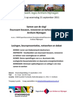Uitnodiging Dubonetwerk regio Arnhem-Nijmegen