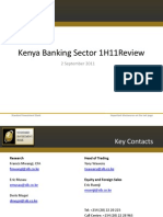 Kenyan Banking Sector Performance 1H11