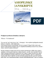 Kasiopejske Transkripte 1994 - 2010