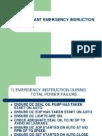 Emergency Instructions