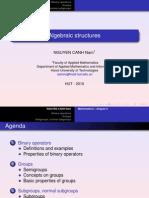 Chapter v - Algebraic Structures I
