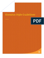 Sheraton Style Guidelines
