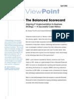 Infosys Balanced Scorecard