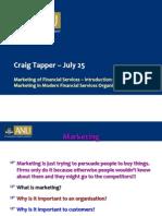 Marketing Financial Services Unit 1