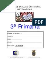 PRUEBA DE MATEMÁTICAS 3º