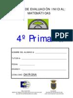 PRUEBA DE MATEMÁTICAS 4º