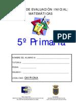 PRUEBA DE MATEMÁTICAS 5º