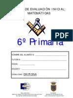 PRUEBA DE MATEMÁTICAS 6º