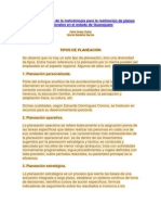 TIPOS DE PLANEACIÓN