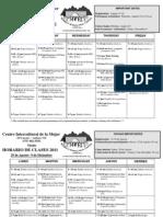 2011 Fall Schedule