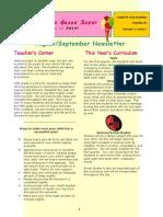 Newsletter Aug Sept