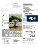 Fruitfulness 8 Luke 16-1-15 Handout 091111