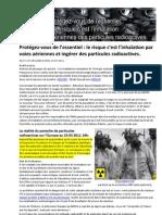 Protegez Vous de l Essentiel Le Risque c Est l Inhalation Par Voies Aeriennes Et Ingerer Des Particules Radio Actives 23-03-2011-1