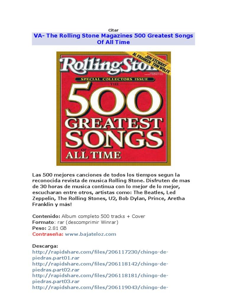 Las 500 Rolas Mas Buenas