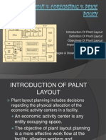 Plant Layout & Forecasting & Price Policy
