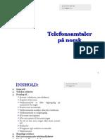 Telefonsamtaler Pa Norsk