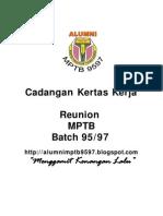 Cadangan Kertas Kerja Reunion MPTB 9597