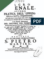 Sacro Arsenale ovvero Pratica dell'Uffizio della Santa Inquisizione 1730