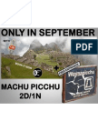Machu Picchu by Train, In September Now With FREE Huayna Picchu Entrance!