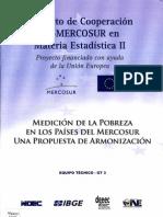 Medición de la pobreza en los países del Mercosur