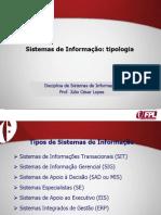 Aula 2 - Tipologia de sistemas de informação