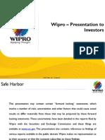 Wipro Investor Presentation Q3 FY11