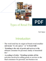 Types of Retail Formats