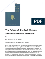 The Return of Sherlock Holme