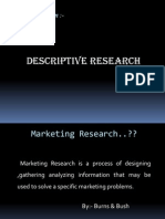 Descriptive Research I-Marketing Research