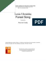 """Lesya Ukrainka """"The Forest Song"""""""
