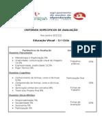 CRITÉRIOS ESPECÍFICOS DE AVALIAÇÃO EV 2011-12
