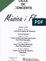 Programa de mà Temps de Flors Girona maig 2011