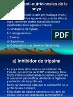 Factores Anti-nutricionales de La Soya