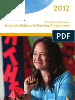 2012 Graddiptchg Programmes