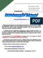 Nota Informativa Ruta 24 Septiembre 2011 - GRUPO CALVARIO