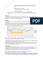 ERS P3874 Decrease of Cardiovascular Disease After Total Tobacco Ban in France First Analysis