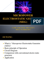 Micro Power Electrostatic Generator by Ashutosh Srivastava