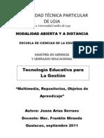 Multimedia, Repositorios Objetos de Aprendizaje