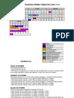 Calendari Primer Trimestre 2011-12