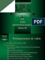 Cementos de Uso Odontologico II