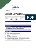 Geo, Assessment Task 1a, Yr 7, CMB