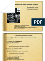 Curriculum, Campo de Estudi-1